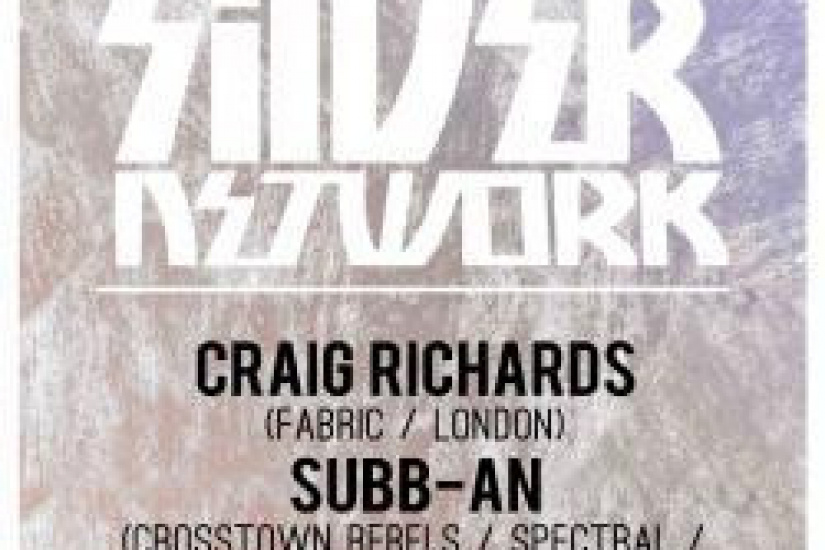 Silver Network au Showcase avec Craig Richards, Subb-An et Jef K