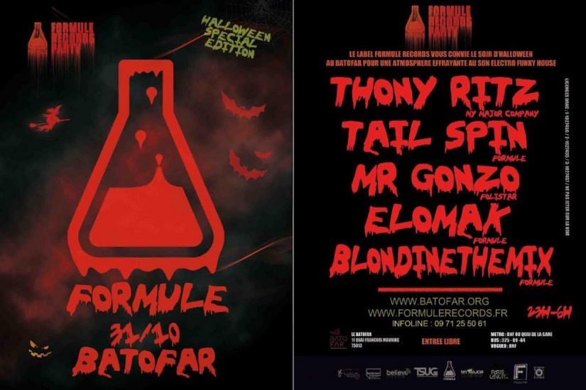 "FORMULE RECORDS PARTY ""Edition spécial Halloween"""