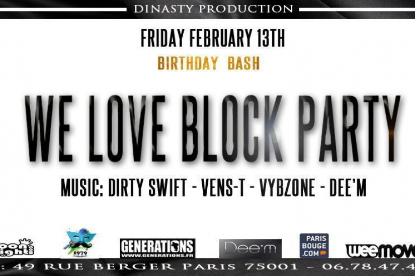 We Love Block Party Birthday 2 ans