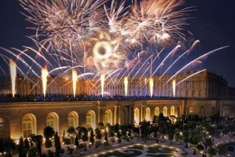Le Roi de feu, le spectacle pyrotechnique dans les jardins du Château de Versailles
