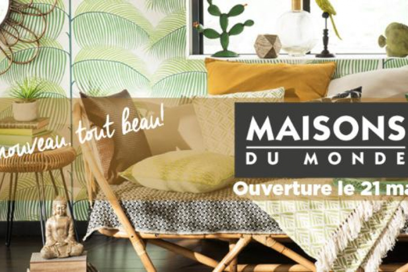 maisons du monde ouvre une boutique chez domus. Black Bedroom Furniture Sets. Home Design Ideas