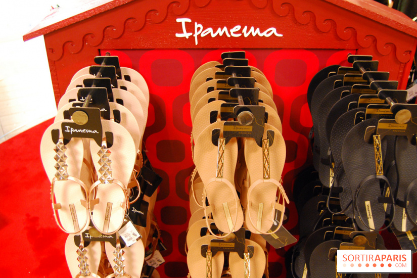 Tongs au stand Ipanema - Afterwork des Galeries Lafayette pour le Summer Break