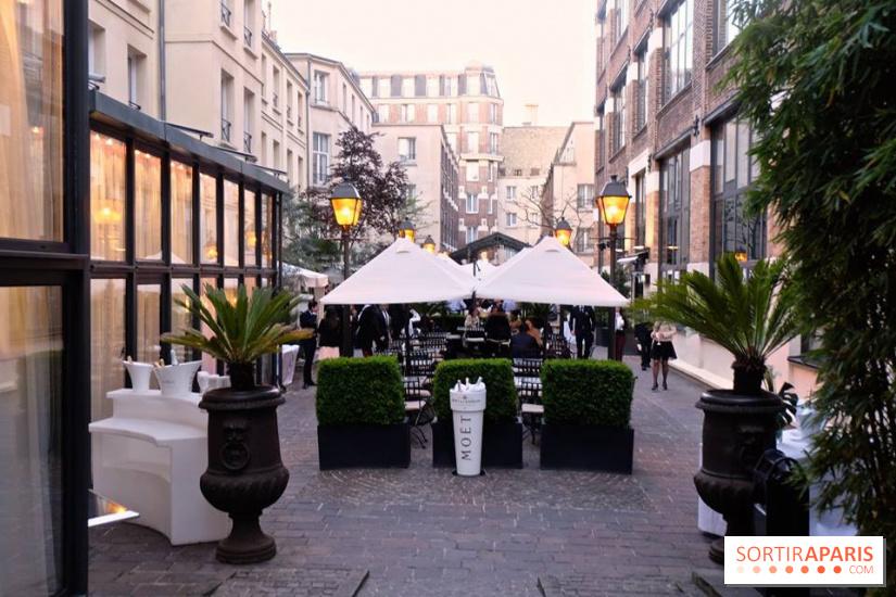 Le restaurant terrasse cach des jardins du marais - Jardins du marais restaurant ...