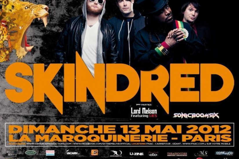 SKINDRED + SONIC BOOM SIX + LORD NELSON Feat LIES