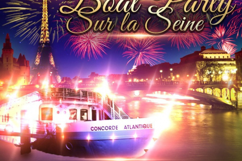 PARIS BOAT PARTY NEW YEAR SUR LA SEINE 2017 ( BATEAU BUFFET FETE )