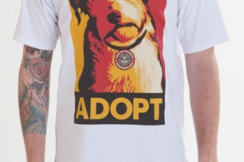 Obey clothing : Adopt a pet basic tee, 23$