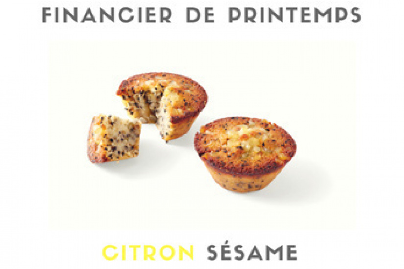 Financier de Printemps Citron-Sésame Maison Kayser