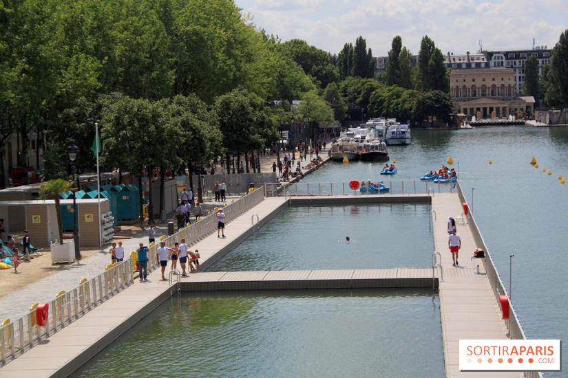 La baignade gratuite du bassin de la villette revient en for Bassin de baignade