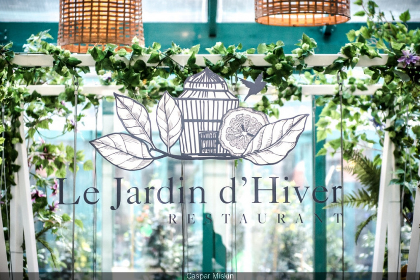 Temporary restaurant le jardin d hiver at h tel the for Jardin d hiver