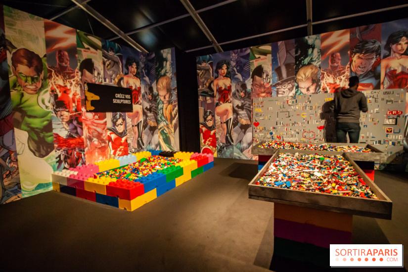 the art of the brick la villette l 39 expo super h ros en lego de nathan sawaya prolongations. Black Bedroom Furniture Sets. Home Design Ideas