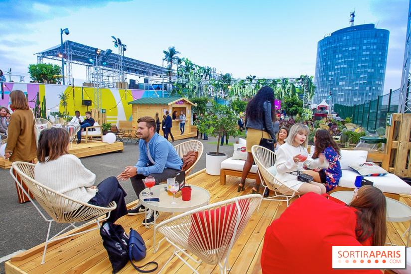 le jardin suspendu immense rooftop v g tal sur le toit de paris expo porte de versailles. Black Bedroom Furniture Sets. Home Design Ideas