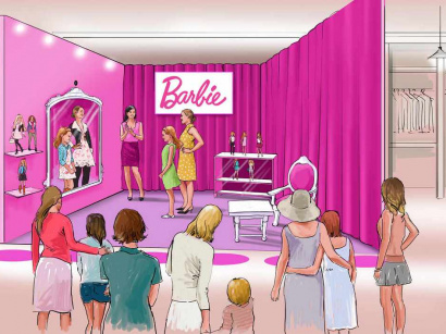 Le 1er dressing virtuel de Barbie aux Galeries Lafayette