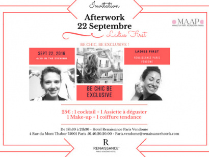 Be chic, be exclusive : l'afterwork girly de l'hôtel Renaissance Vendôme
