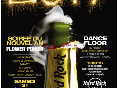 Réveillon du Nouvel An 2017 au Hard Rock Cafe Paris