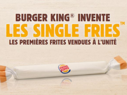 Burger King lance les Single Fries, des frites à l'unité