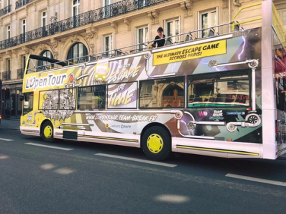 The Escape Bus, l'escape game touristique by Team Break à Paris