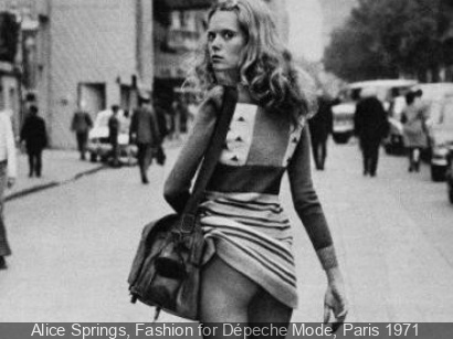 Alice Springs, Fashion for Dépeche Mode, Paris 1971