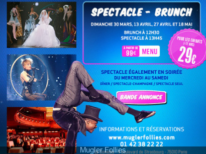 Brunch en famille au Mugler Follies