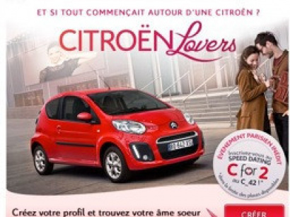 Citroën organise un speed dating pour la Saint Valentin, citroën lovers