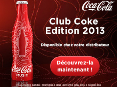 club coke 2013, bouteille coca 2013, bouteille coca cola collector 2013