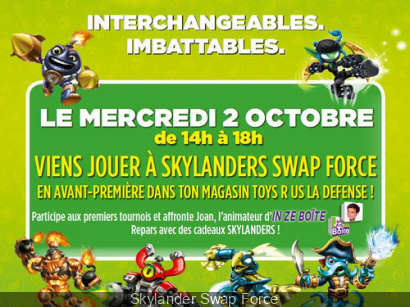 Grands Tournois Skylanders Swap Force au Toys de la Défense