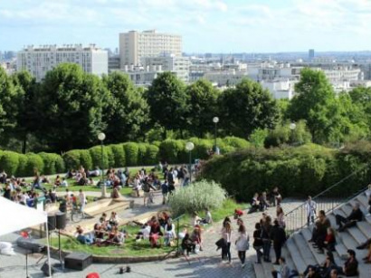 parc de belleville paris 20. Black Bedroom Furniture Sets. Home Design Ideas