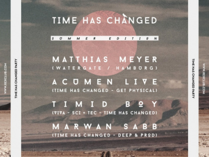 Time Has Changed Summer Time Party au Rex Club
