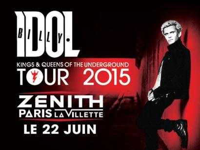 Billy Idol en concert au Zénith de Paris en juin 2015