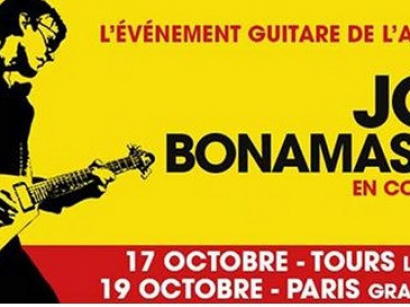 Joe Bonamassa en concert au Grand Rex de Paris en octobre 2015