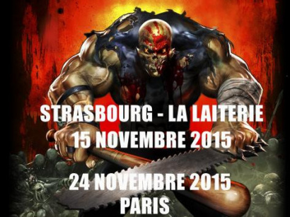 Five Finger Death Punch en concert à l'Olympia de Paris en novembre 2015