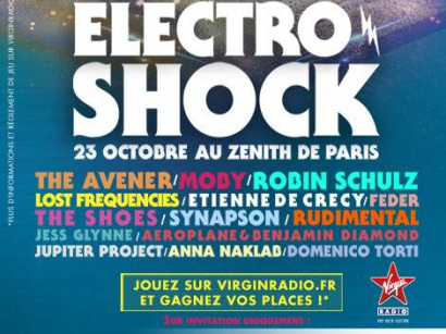 ElectroShock by Virgin Radio revient au Zénith de Paris : gagne ta place!