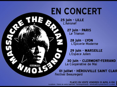The Brian Jonestown Massacre en concert au Trianon de Paris en juin 2016