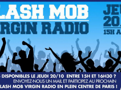 Flash Mob Virgin Radio à Paris
