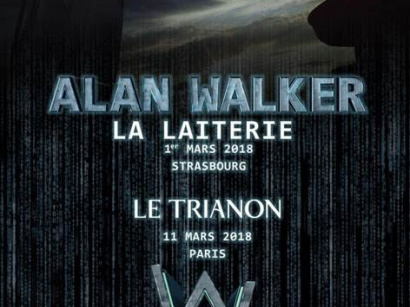 Alan Walker en concert au Trianon de Paris en mars 2018
