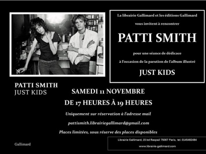 Patti Smith en dédicaces à la librairie Gallimard Paris