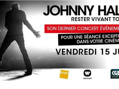 "Johnny Hallyday : ""Rester Vivant Tour"" au cinéma du Grand Rex de Paris"