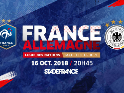Match France - Allemagne au Stade de France le 16 octobre 2018