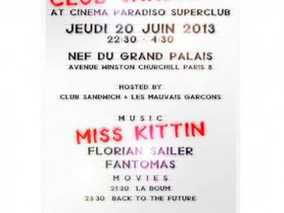 Cinema Paradiso SuperClub : Club Sandwich au Grand Palais