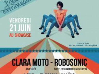The Freakshow au Showcase avec Clara Moto et Robosonic