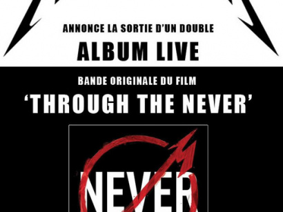 "Metallica annonce la sortie d'un double album live : B.O du film ""Through the Never"""