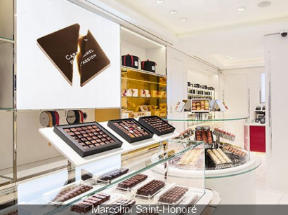 Marcolini Saint-Honoré à Paris, boutique de chocolats