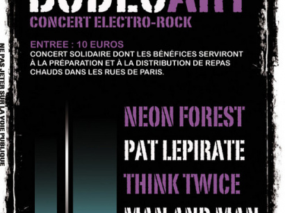 Neon Forest, Pat le Pirate, Think Twice, Man & Man, Paris, Glaz'art, Concert, Solidarité