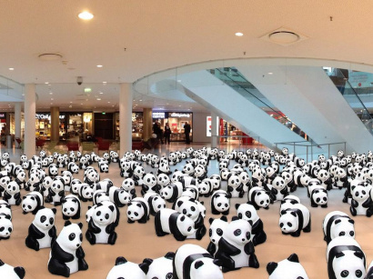 Des pandas s'installent à Beaugrenelle Paris