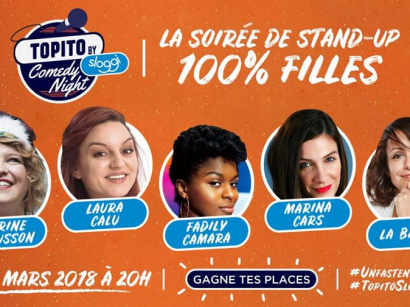 Topito Comedy Night 100% filles à la Nouvelle Eve