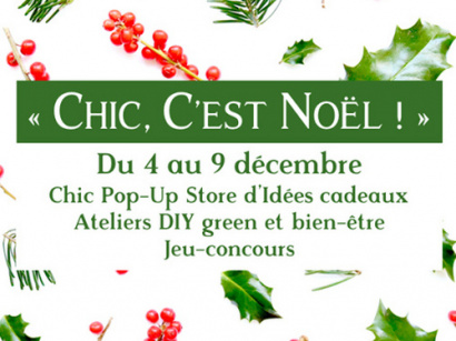 Chic, c'est Noël !, le pop-up store green de Chic des Plantes