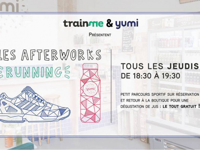 Afterworks running avec TrainMe et Yumi