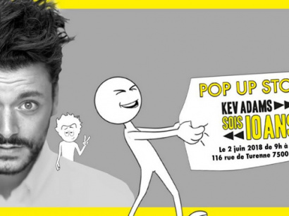 Pop up store Kev Adams le 2 juin
