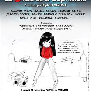 La Nuit de la Déprime 2015 aux Folies Bergère de Paris