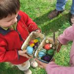 La chasse aux oeufs de la Bergerie Nationale, vacances de pâques