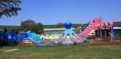 Aire de structures gonflables
